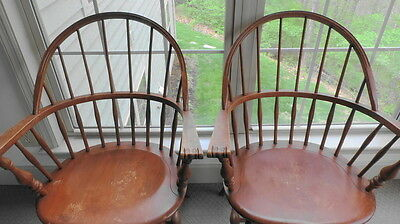 Vintage-Ethan-Allen-chairs-Windsor-Bow-Back-Chair