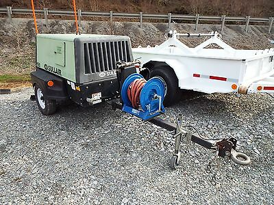 2006 Sullair 185 CA Trailer Mounted Air Compressor Cat Diesel Low Hours Towable