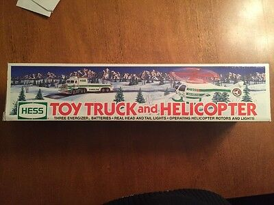 "1995 HESS ""Toy Truck And Helicopter"" With Box"