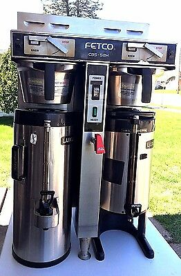 """""""FETCO CBS-52H15 COMMERCIAL DUAL COFFEE BREWER w/ 2  Fetco Luxus Thermal urns!"""