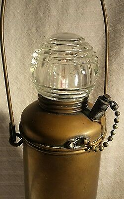 Wilcox Crittenden Brass Boat Portable Anchor Light Clear Beehive Fresnel Lamp