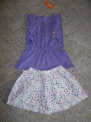 Gymboree Girls Hello Happy Skirt and Purple Top Set - Size 8 – NWT!