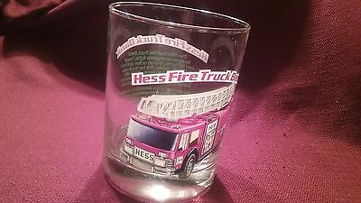 Hess drinking glass  red fire truck