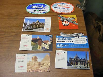 lot of 8 vintage airline advertising blotters