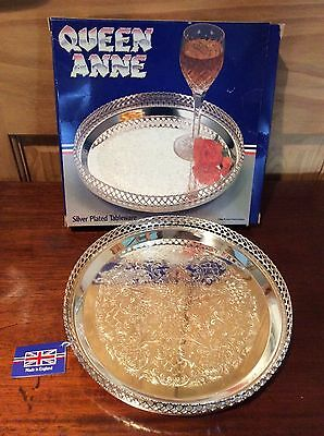 Queen Ann Silver plated serving tray unused boxed condition