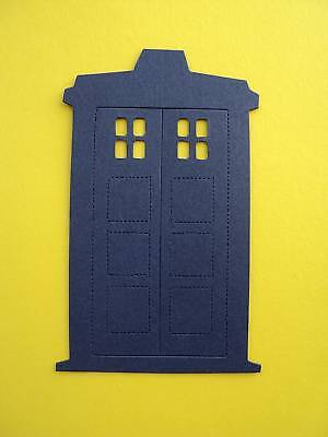 8 Blue phone boxes   die cut shapes for toppers