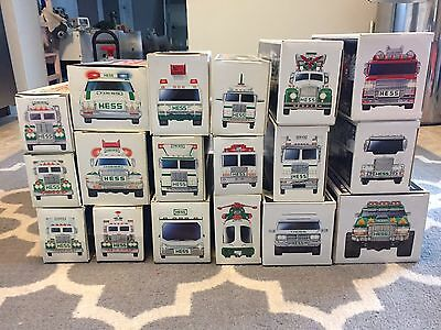 Hess Truck Collection - 1990-2007 - 18 Toy Lot Vintage Box Bags Nib See Details