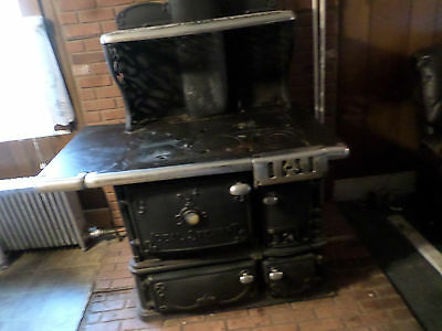 Antique Ideal Stewart Kitchen Wood Cooking Stove Made By Fuller Warren & Troy Ny