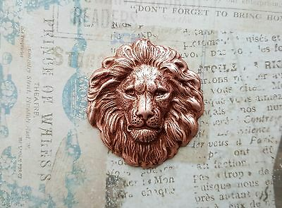 Large Rose Gold Ox Lion Head Stamping (1) - RGSG7856