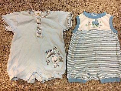 Two One-Piece Rompers Jumpers Outfits Baby Boy 0-3 months