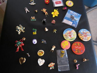 Job Lot Of Pin And Button Badges RARE VINTAGE LOT