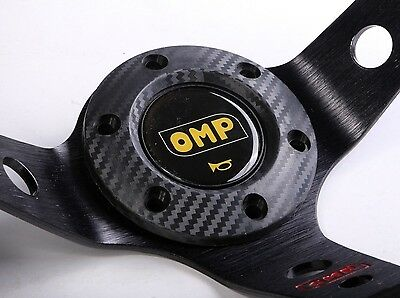 Steering Wheel Horn Button Adapter Ring Boss Carbon Fibre Effect OMP MOMO SPARCO