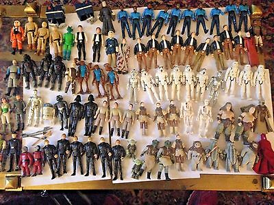 Lot of Over 70 Vintage Star Wars Action Figures With Some Weapons Original NR