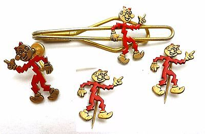 REDDY KILOWATT ELECTRIC Co Pins, Tie Clasp, Lapel, LOT