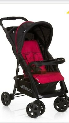 HAUCK Shopper Comfortfold Red Baby  Buggy/Pram/stroller With RAINCOVER