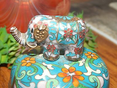 Vintage Collectible 'March of the Elephants' Cloisonne Music Box
