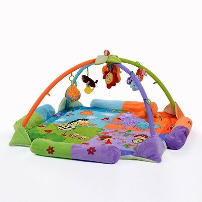 Baby Toy Blanket Folding Activity Play Gym Mat Soft Colorful Free Shipping