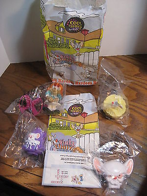 Warner Bros. Pinky & the Brain w/ Elmyra Set of 4 Hardees Kid's Toys