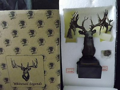 Whitetail Legends Replica of the Hole in Horn Buck Statue & Lapel Pin H1452