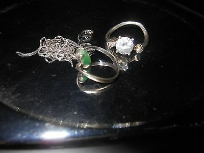 7 Grams of genuine solid sterling silver SCRAP with assorted stones