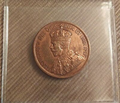 1916 Canadian Copper Large One Cent Coin BU R/B!!!