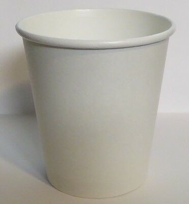 12 oz  300 WHITE Paper Coffee Cup/Disposable Hot Cups only - No LIDS