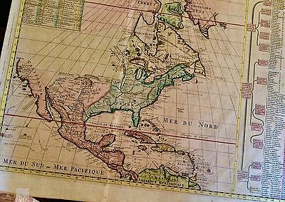 ANTIQUE MAP OF North America 1710 MANY NEW FINDINGS FROM EXPLORATIONS