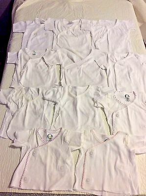 11 Piece Lot Gerber Spencer's Infant Baby Unisex Undershirts Size NB-3-6 Months