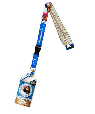 Nintendo Legend of Zelda Breath of the Wild Lanyard ID Badge Holder Sword Charm