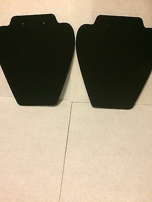 New Pair Of Black Velvet Necklace Display Stands