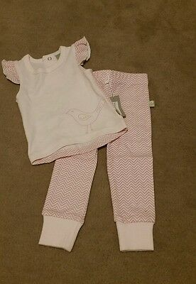 Mizzle pink tights and tshirt. Baby girl. Size 00. Never worn. Baby clothes.