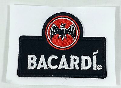 Bacardi Brand Rum Embroidered Bat Logo Patch Sticker