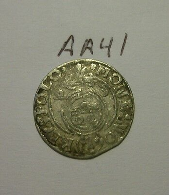 silver medieval coin. (aa41)