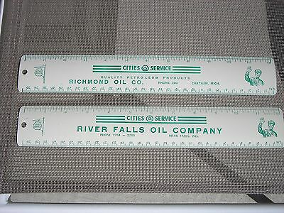 CITIES SERVICE OIL COMPANY Ruler(s) - (RIVER FALLS - WIS and RICHMOND OIL - MICH