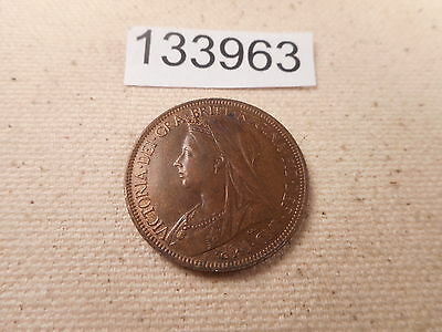 1901 Great Britain Half Penny - Very Nice Collector Grade Album Coin - # 133963