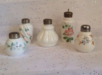 CF Monroe - Creased Neck - Ribbed Swirl - + Unknown Makers - Lot of FIVE Shakers