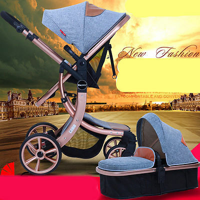 LUXURY baby stroller 3 in 1 foldable Carriage Infant Travel Pram