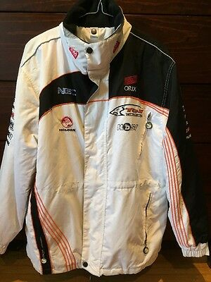 Toll HSV Dealer Team White Team Jacket V8 Supercars Kelly Tander Size S Mens