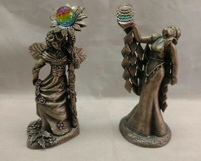 "Tudor Mint Pewter ""The Crystal Queen"" and ""Mother Nature"" Figurines"