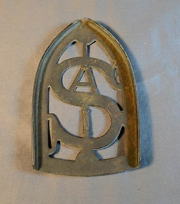 Antique SA Cast Iron Trivet