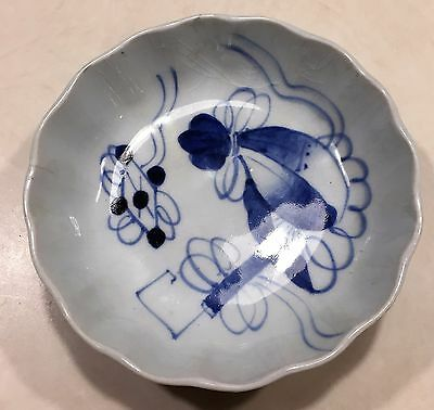 Japanese Antique Edo Period Blue and White Bowl