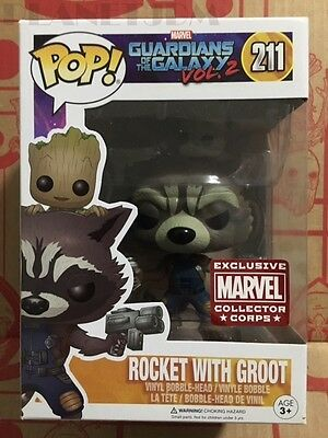 Funko Marvel Collector Corps Rocket With Groot Exclusive Funko Pop Figure New