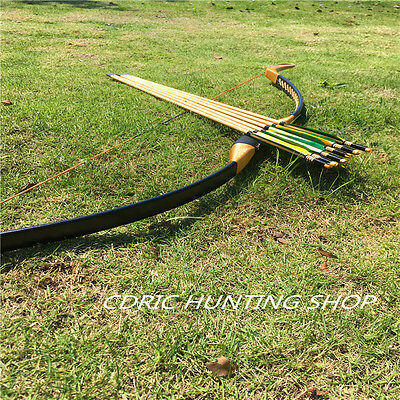 Archery Chinese traditional handmade with Recurve Bows 20-60#+6 wooden arrow