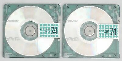 Genuine Victor 'MD74' Translucent Spotty MiniDiscs (x2) 74 Minutes w/ Cases