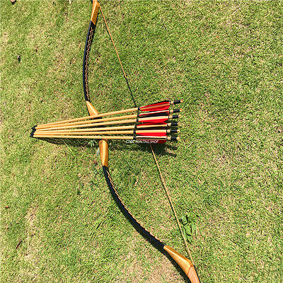 Hunting and archery competitions 20-60ibs Longbow bow +6 wooden arrow