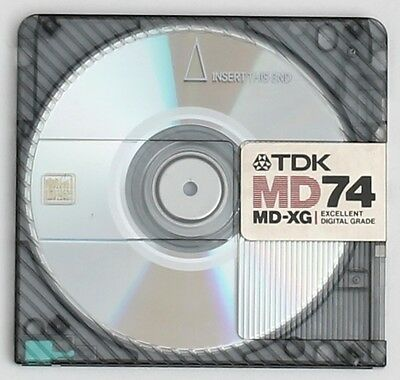 Genuine TDK 'MD-XG' Translucent Recordable MiniDisc 74 Minutes w/ Case