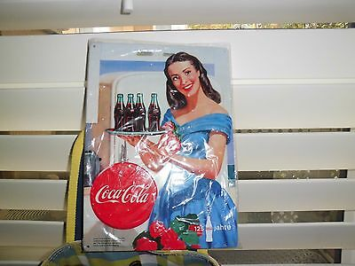 Coca Cola 125 Jahre Embossed Sign 8-1/2 x 11-3/4 Collectors Item GERMANY