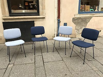 Pierre Paulin -suite De 4 Chaises CM 196 - 1950-1960-design -vintage