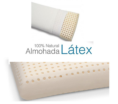 Almohada 100 % Latex Natural Extrasuave De 70 Cm.