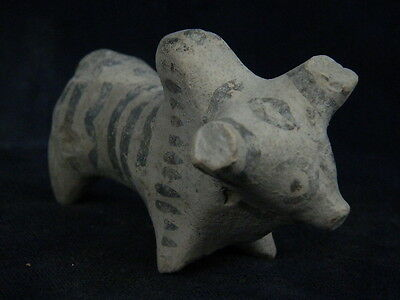"Ancient Indus Valley Teracotta Painted Bull C.2500 Bc  """"t877"""""